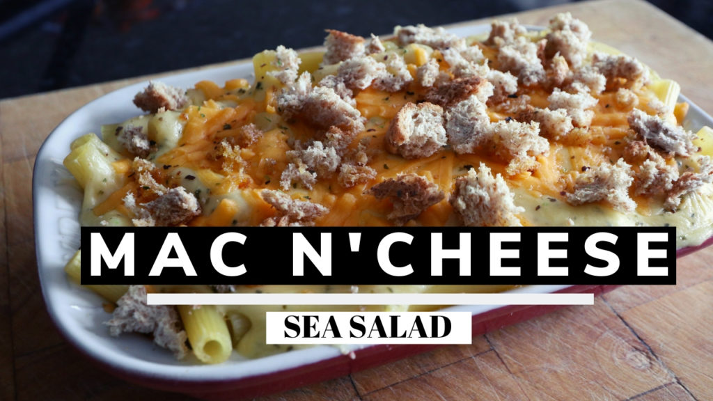 sea salad mac N cheese